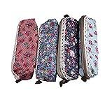 Demarkt Astuccio portamatite cassa di matita in tela per studenti cancelleria stoccaggio borsa stampe floreali set 4pz