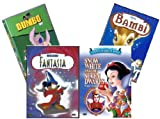 Walt Disney Four (4) Dvd Holiday Collection Set ~ Fantasia / Bambi / Dumbo / Snow White & the Seven Dwarfs (All Original Releases) [Import](All-region)
