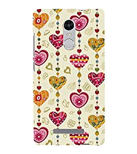 ASSORTED HEART SHAPED WIND CHYMES 3D Hard Polycarbonate Designer Back Case Cover for Xiaomi Redmi Note 3 :: Xiaomi Redmi Note 3 (3rd Gen)