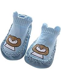 Calcetines de bebé con suela de goma calcetín infantil Calcetines de piso de niña recién nacido