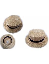Cappello Coppola Moc Modello Nino taranto paglietta Elegante Cerimonia Made  in Italy in Omaggio amuleto Portachiavi… 39fe225ba187