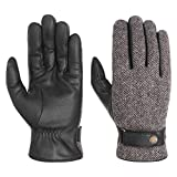 Stetson Woolrich Lederhandschuhe Handschuhe Herrenhandschuhe Fingerhandschuhe für Herren mit Futter