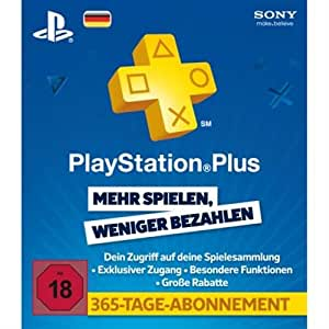 Playstation Plus Live Card - 365 Tage, deutsch - [PlayStation 3]