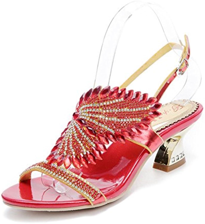 HIGHXE Nuovi Sandali da Donna Strass Spessi con Sandali da Donna con Ali d'Angelo Romane di Bohemian Diamond,... | Export  | Gentiluomo/Signora Scarpa