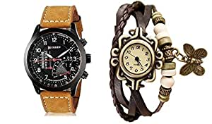 Skypy classic Analogue Multicolor Dial Men's & Women's Combo Watch