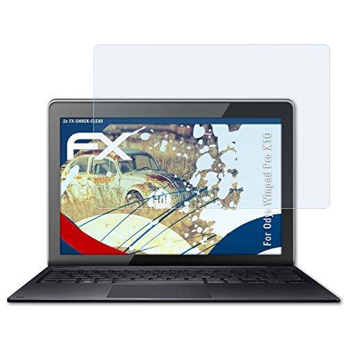 atFolix Schutzfolie kompatibel mit Odys Winpad Pro X10 Panzerfolie, ultraklare & stoßdämpfende FX Folie (2X)