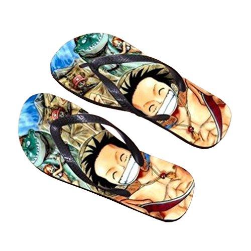 Bromeo One Piece Anime Unisex Flip Flops Zehentrenner Flip Pantoffeln 379