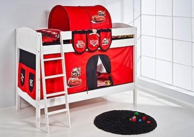 Lilo Kids Litera Ida 4106Disney Cars-teilbares Sistema hochbett-Color Blanco-Con cortina y somieres