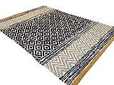 Second Nature ONLINE-Orange Edge kleinen Fair Trade Geometrische Beige bunten Teppich 60cm x 90cm