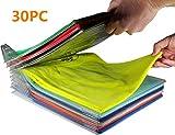 Nifogo Organizer Per Armadio, Organizer Salvaspazio per T-Shirt  Closet Organizer Camicia Cartella | Dimensioni Regolari30pack