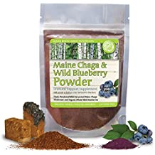 Maine Chaga & Wild Blueberry Powder, Premium Chaga Powder, Makes Over 200 Servings