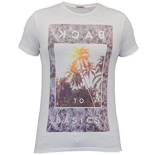 Herren Kurzärmelig Bedrucktes T-shirt By Threadbare weiß - MMV146PKA