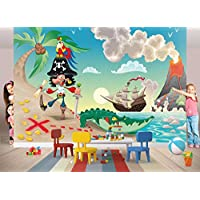Fototapete FOTOTAPETE PIRAT INSEL Nr.8TG-658 Bildtapete Wandbild Riesenbild Poster Wanddeko Tapeten Wandtatoo Foto Wand Zimmer Deko Kinder Sticker Bordüre Bild Tatoo Kinderzimmer children room wallpaper kids photo wall mural (250x162cm 4-teilig)