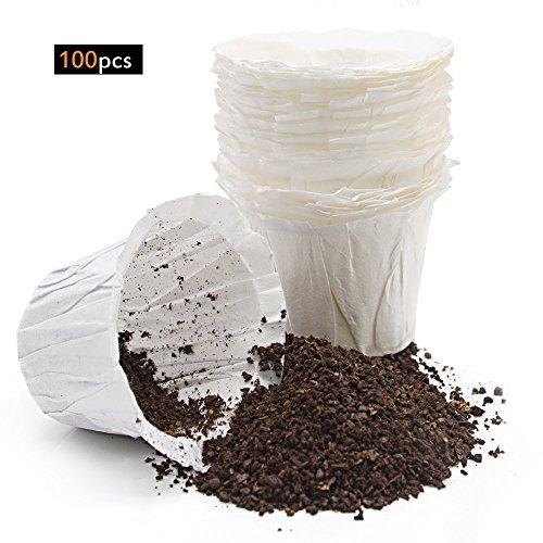 MG Kaffee k-cup Kaffee Papier Filter for Keurig Single Serve 100Einweg Ersatz Filter - Keurig Karaffe Filter