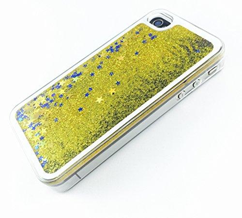 Phoenix Hartschale für iPhone 4 / 4S / 4G, glitzernde Sterne, goldfarben/goldfarben (Vital Sterne)