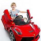 Goplus 2.4G La Ferrari Rot Ride-on Kinder Elektrofahrzeug Kinderfahrzeug Elektroauto