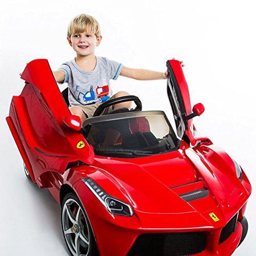 *COSTWAY 2x 2.4G La Ferrari Rot Ride-on Kinder Elektroauto Elektrofahrzeug Kinderauto Kinderfahrzeug*