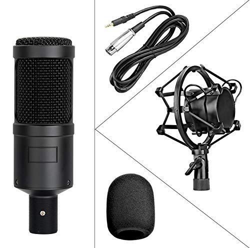 AK-60 Network K Song Anchor Mikrofon-Set/Netzwerk-Karaoke-Live-Sendung/Aufnahme Whouting mit Kunststoff-Shock-Mount,Black