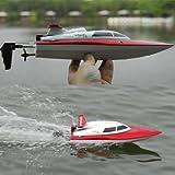 s-idee® 01172 | Rennboot 2,4 Ghz bis zu 30 kmh schnell Speedboot 4CH 2.4G High-Speed-Racing-Fernbedienung RC Boot