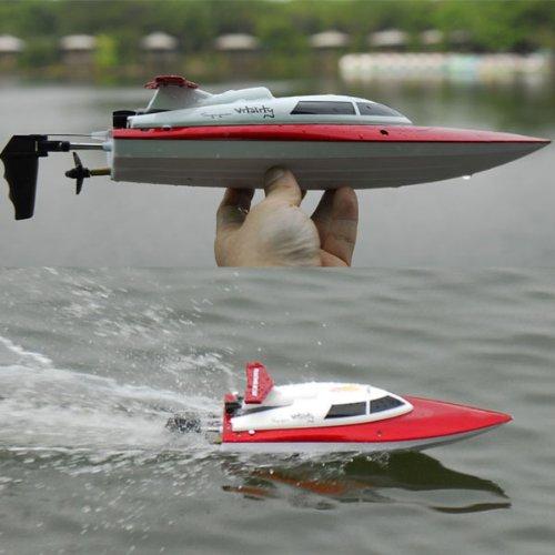 s-idee® 01172   Rennboot 2,4 Ghz bis zu 30 kmh schnell Speedboot 4CH 2.4G High-Speed-Racing-Fernbedienung RC Boot