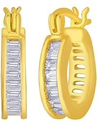 Diwali Gifts Peora Gold Plated Hoop Earrings For Girls & Women