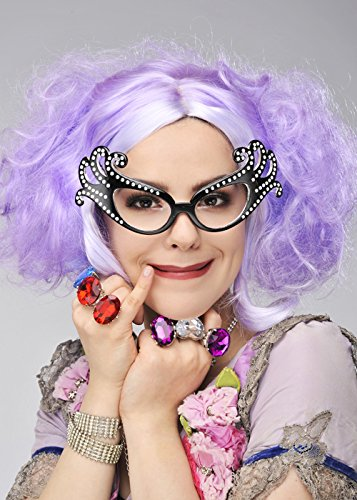 Edna Dame Kostüm - Deluxe Dame Edna Style kurze lockige lila Perücke