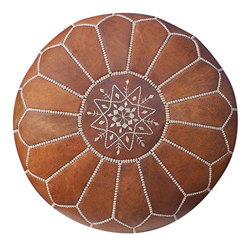 Maison de Marrakech/Hermoso Color marrón marroquí puf Puff ...