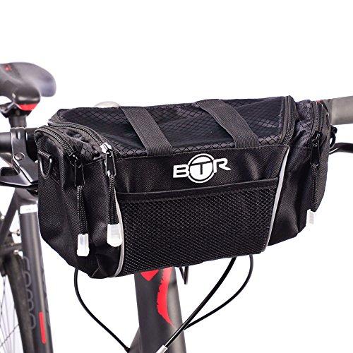 Alforja Black para Manillar de Bicicleta con Correa de Hombro Desmontable de BTR