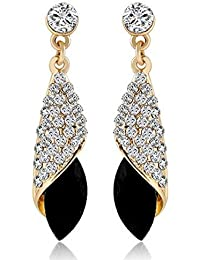 YouBella Fashion Jewellery Stylish Crystal Fancy Party Wear Earrings for Girls and Women