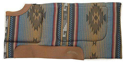 Hoch High Back Leder (Weaver Leder alle Zweck verdickter geschnitten Rückseite Sattel Pad, Blue Navajo)