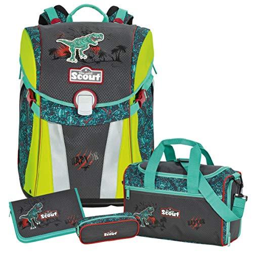 Raptor - Dino Dinosaurier T-Rex - Scout Sunny Schulranzen-Set 4tlg. mit Sporttasche