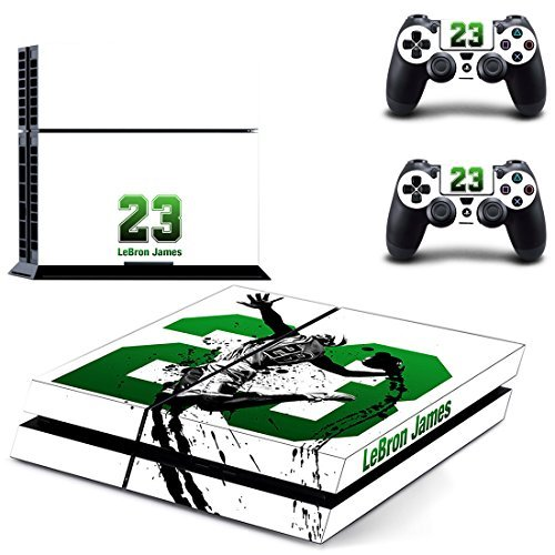 Hambur® PS4 Console Designer Skin for Sony PlayStation 4 System plus Two(2) Decals for: PS4 Dualshock Controller --- Cleveland Cavaliers NBA Basketball LeBron James by Hambur - Cleveland Cavaliers-decal