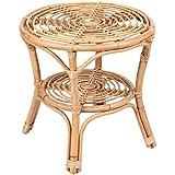 Promobo - Table De Salon Basse en Rotin Design Indie Déco Cosy Nature