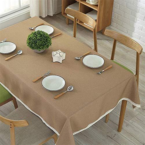 QWEASDZX Tischdecke Einfache Art und Weise Umweltschutz Plain Tischdecke Ölbeständiges Antifouling Mehrzweck-Tischdecke Rechteckige Tischdecke Geeignet für den Innen- und Außenbereich 140x140 cm - Kirsche Holz Rund Esstisch