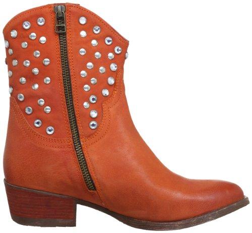 Manas MARILU' 131D0407GM Damen Cowboy Stiefel Orange (ARANCIO)
