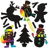Baker Ross AV483 magneten voor kinderen om te versieren en te personaliseren, knutselen, creatieve kerst, 10 stuks, gesorteerd