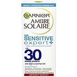 Garnier Ambre Solaire Sensitive expert+ Sonnenschutz-Creme 50 ml für helle, empfindliche, fettige & zu Akne neigende Haut, LSF 30, hochverträglich, ohne Parfüm, Parabene & Farbstoffe, nicht komedogen, Infarot-Schutz*, UVB+UVA+langwelliges UVA