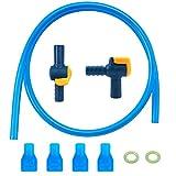 Valvola di ricambio per bocchino di idratazione vescica (4pezzi), 1PCS 90gradi e 1PCS dritto Shutoff con o-ring e tubo FO acqua zaino, adatta per varie marche