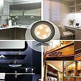 Xcellent Global Luminaria de Superficie Encendido por Presión Tipo Tapón con 4 LEDs y Alimentado por...