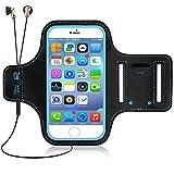 Wasserdicht Sportarmband, Dreamore Sportarmband Handyhülle Mit Schlüsselhalter, Kabelfach, Kartenhalter für iPhone,Android bis 5.5 Zoll(Blau)