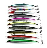 hengjia Lot de 1026g/18cm Minnow Leurre de pêche réaliste Big Basse appâts...