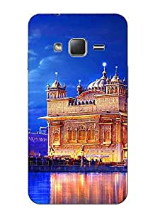 Case Cover Golden Temple Printed Blue Hard Back Cover For Samsung Z1