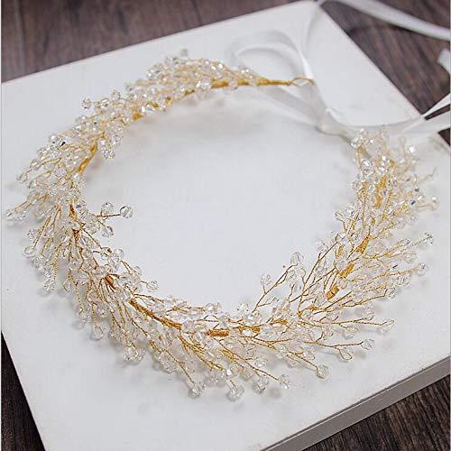 s Silber Strass Perle Braut Stirnband handgemachte Hochzeit Haarschmuck Jubiläum Schmuck ()