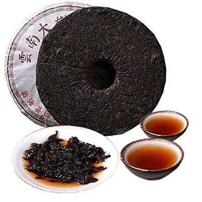 Thé Pu'er chinois 357g (0,787LB) Thé Puer mûr Thé noir Grand arbre du Yunnan Or Thé Pu'er Banzhang Thé ancien Pu-erh Thé cuit Vieux arbres Pu erh thé Soins de santé Pu er tea Aliments verts