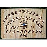 Witchboard Ouija Hexagramm Palisander aus Kiefernholz roter Jaspis Hexenbrett Magisches Board preisvergleich bei billige-tabletten.eu