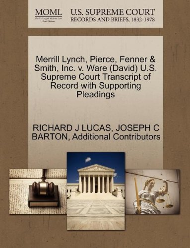 merrill-lynch-pierce-fenner-smith-inc-v-ware-david-us-supreme-court-transcript-of-record-with-suppor