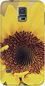 DailyObjects Sunflower Close Up Mobile Case For Samsung Galaxy S5