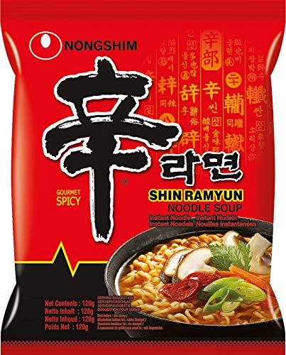 Nong Shim Instantnudeln Shin Ramyun - Koreanische Ramen Suppe scharf - schnelle Zubereitung - 20er Vorteilspack à 120g