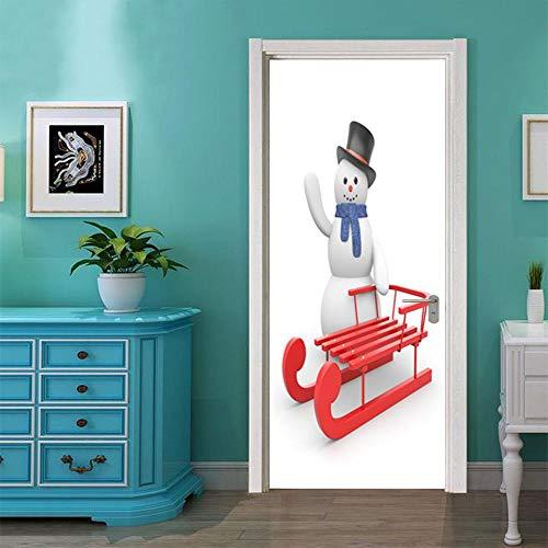 BXZGDJY 3D-Effekt Bücherregal Stil Wandbild Wrap Wandaufkleber Für Home Office Schlafzimmer Dekoration Weihnachten 77X200Cm
