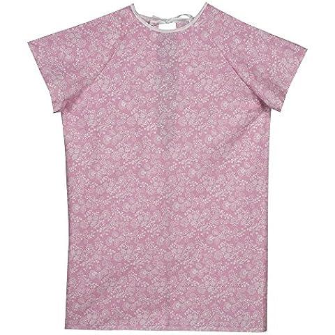 DMI 532-8030-7500 - Camisón de convaleciente cierre trasero con cintas, diseño floral, color rosa